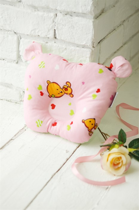 Подушка для новорожденного Sofuto Baby pillow Teddy Likes pink - фото 60685