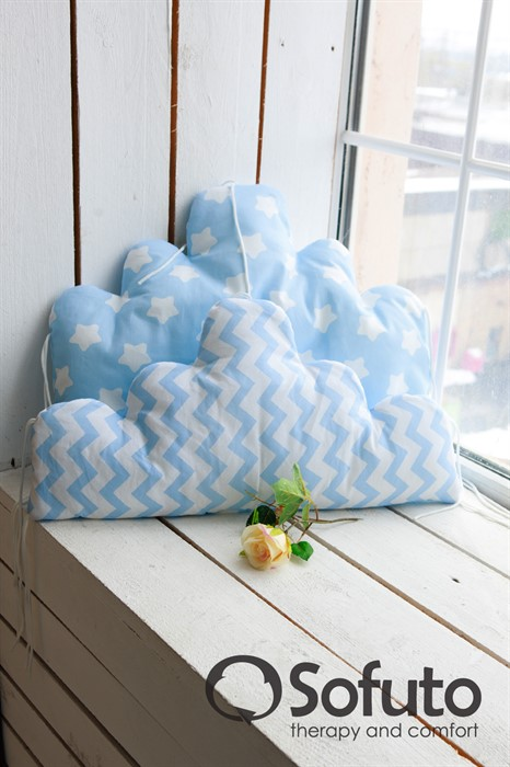 Бортик Sofuto Babyroom Cloud small Blue sky - фото 63953