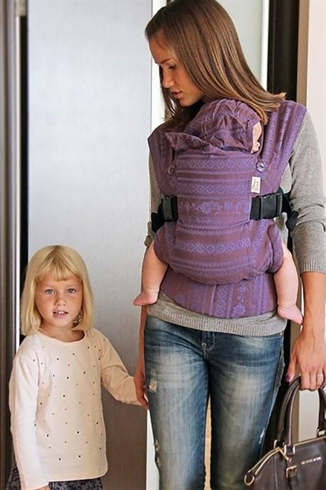 Слинг-рюкзак Karaush Adel Plum branch (чер) хлопок/шелк/шерсть - фото 82579