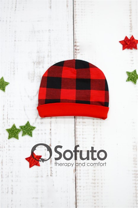 Шапочка Sofuto Baby Red check - фото 90993