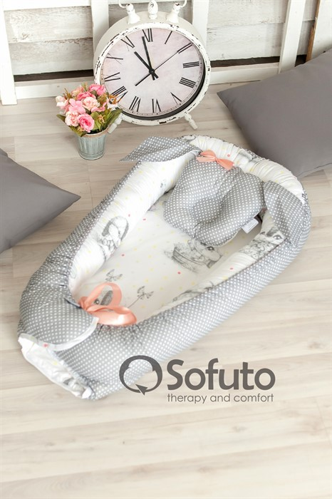 Кокон-гнездышко Sofuto Babynest Cute rabbit - фото 94797