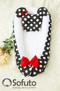 Кокон-гнездышко Sofuto Babynest Minnie black