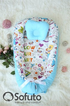 Кокон-гнездышко Sofuto Babynest Holiday blue