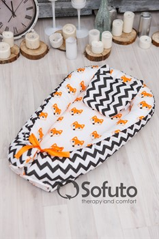 Кокон-гнездышко Sofuto Babynest Little Fox